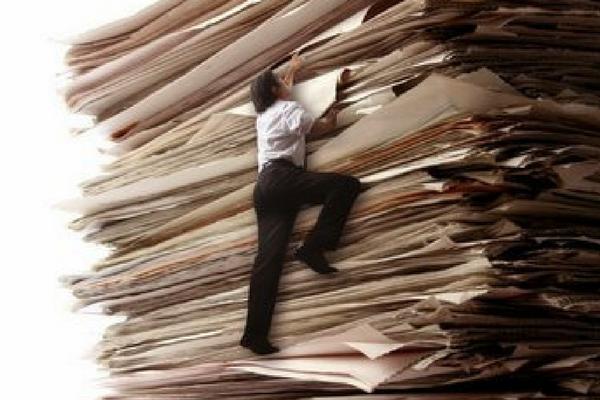 formulários em papel