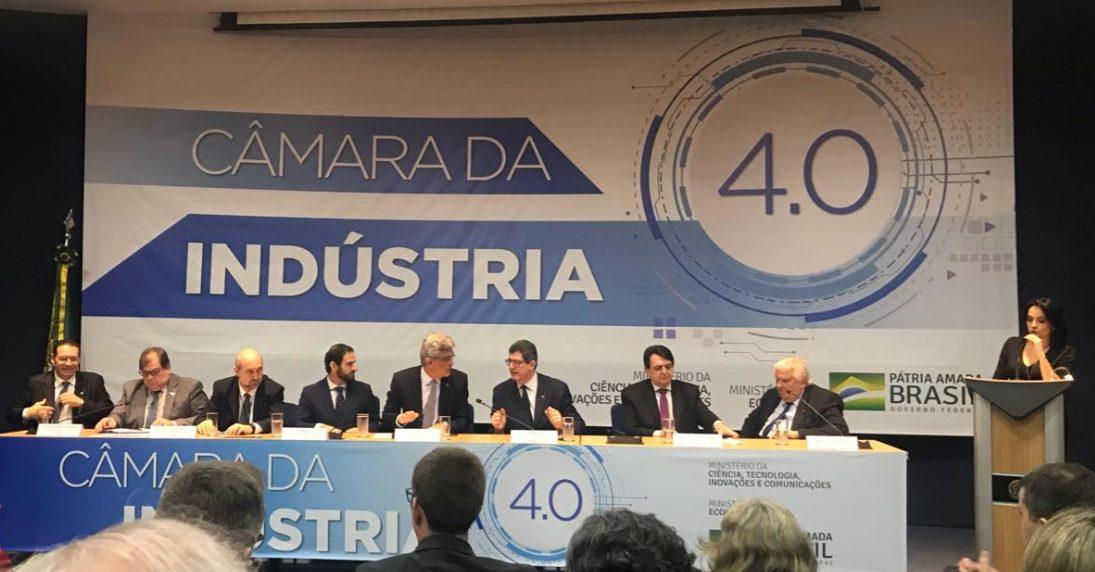 Evento de lançamento da Câmara da Indústria 4.0